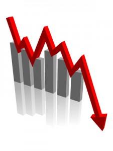 3D Bar Chart (descending) (statistics diagram recession)