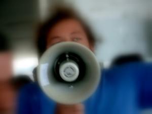 megaphone message