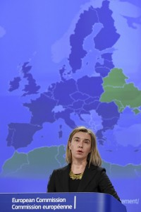 Federica Mogherini, the EU's High Representative for Foreign Affairs and Security Policy, at launch of consultation on the future of the European Neighbourhood Policy (2015) Photo by EEAS / CC BY