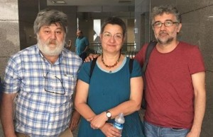 The three arrested Turkish human rights defenders/journalists.