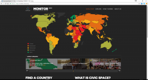 The CIVICUS Monitor initative tracks civic space worldwide